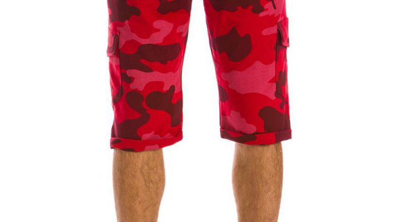 spodenki męskie krótkie czerwone