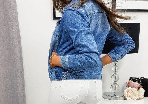 Jeansowa katana uzupełnieniem wiosennej stylizacji