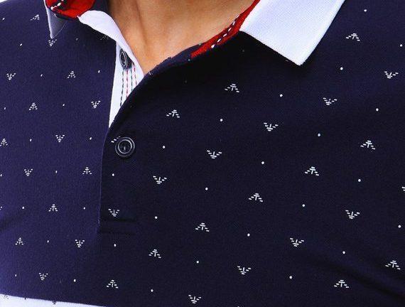 granatowa koszulka polo